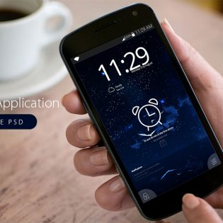 Android Alarm Application Free PSD