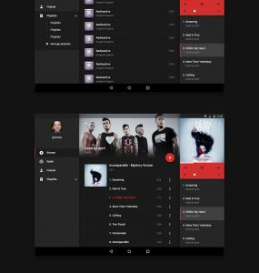 Android Music Application UI Kit Free PSD