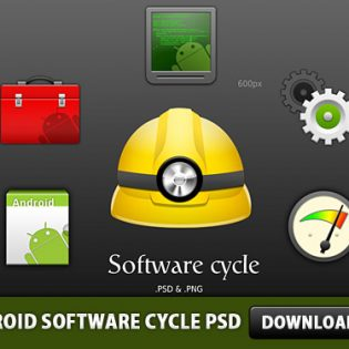 Android Software cycle PSD File