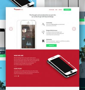 App Design Studio Website Template PSD