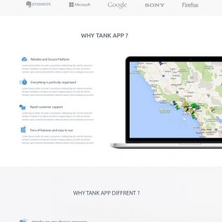 App Landing Page Website Design PSD