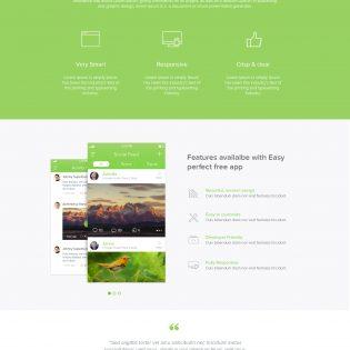 App Landing Page freebie PSD Template