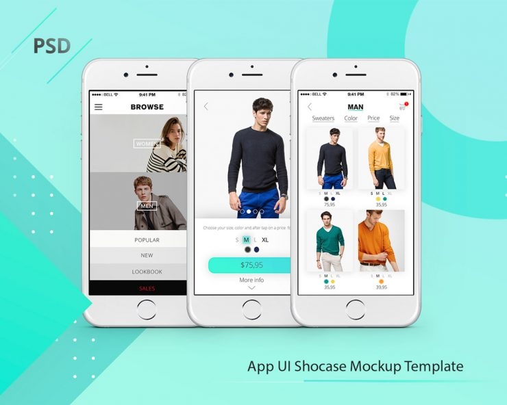 App Showcase Mockup Template Free PSD