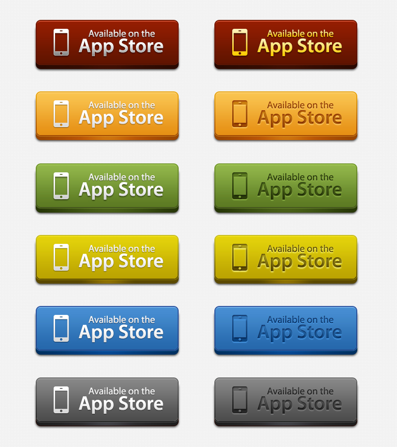App Store Download Buttons PSD