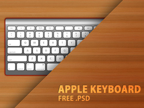 Apple Keyboard PSD file