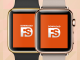 Apple Watch Gold Mockup PSD