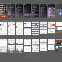 Apple iOS 8 UI Kit PSD