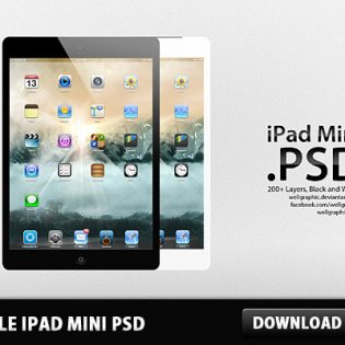 Apple iPad Mini Free PSD