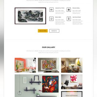Art Gallery Exhibition Landing page Free PSD
