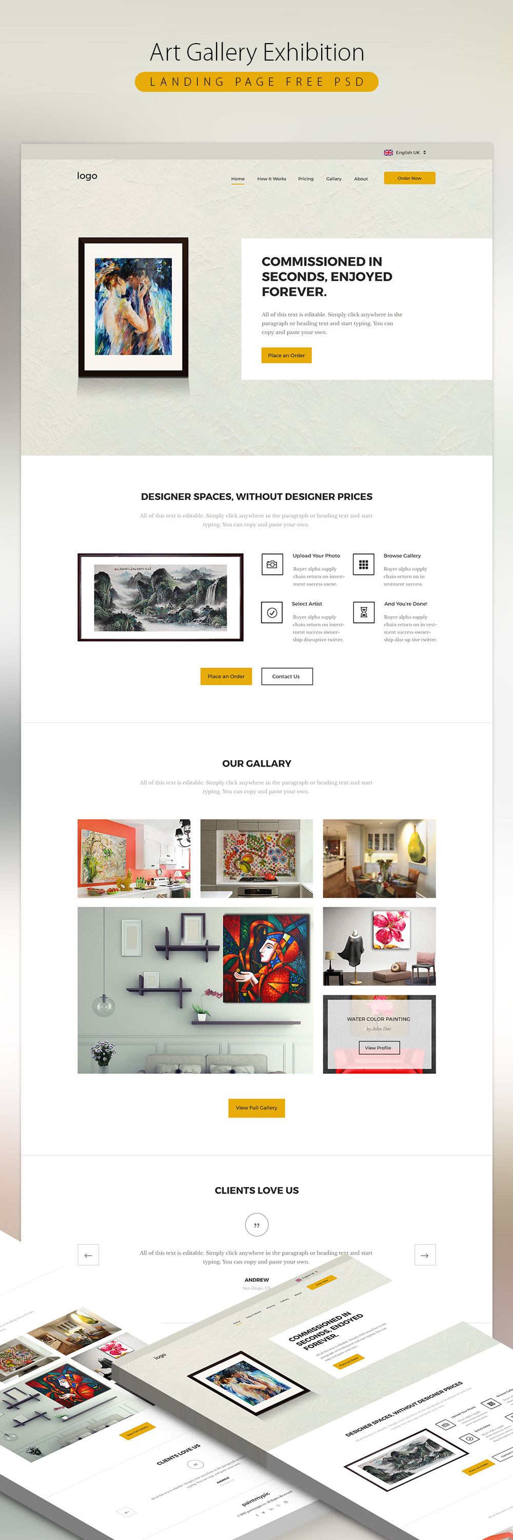 Art gallery exhibition landing page free psd download download psd art gallery exhibition landing page free psd www website template website layout website webpage web template pronofoot35fo Choice Image