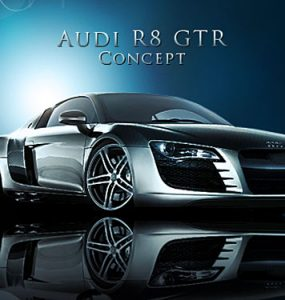 Audi R8 GTR PSD file PSD, Objects, Layered PSDs, Cars,