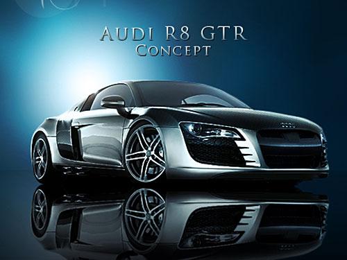 Audi R8 GTR PSD file PSD, Objects, Layered PSDs, Cars,