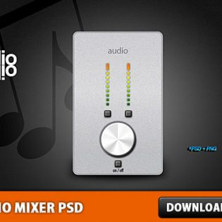 Audio Mixer Template PSD File