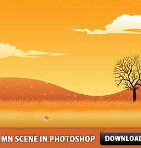 Autumn Scene in Photoshop Tree Sky Scenery Scene Psd Templates PSD Sources psd resources PSD images psd free download psd free PSD file psd download PSD Park Nature Layered PSDs Ground Grass Graphics Free PSD Field download psd download free psd Autumn
