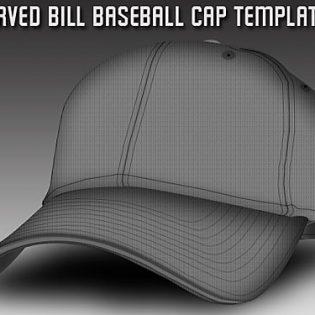 Baseball Cap Template PSD