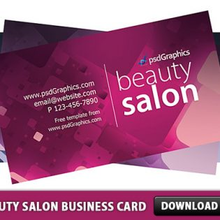 Beauty Salon Business Card template Free PSD