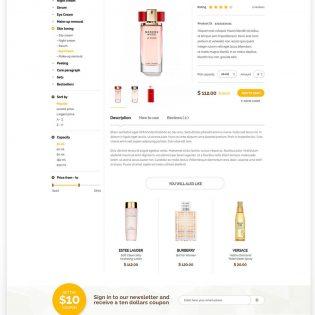 Beauty Shop eCommerce Website Template Free PSD