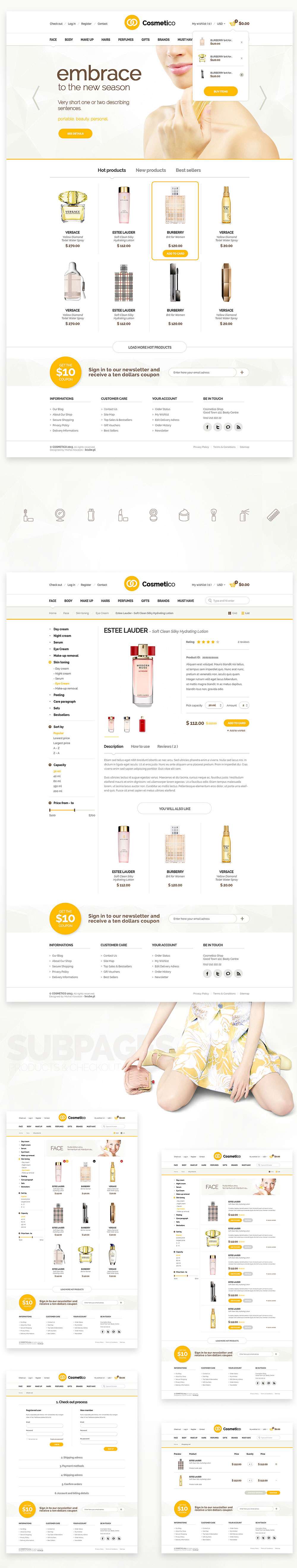 Beauty Shop eCommerce Website Template Free PSD