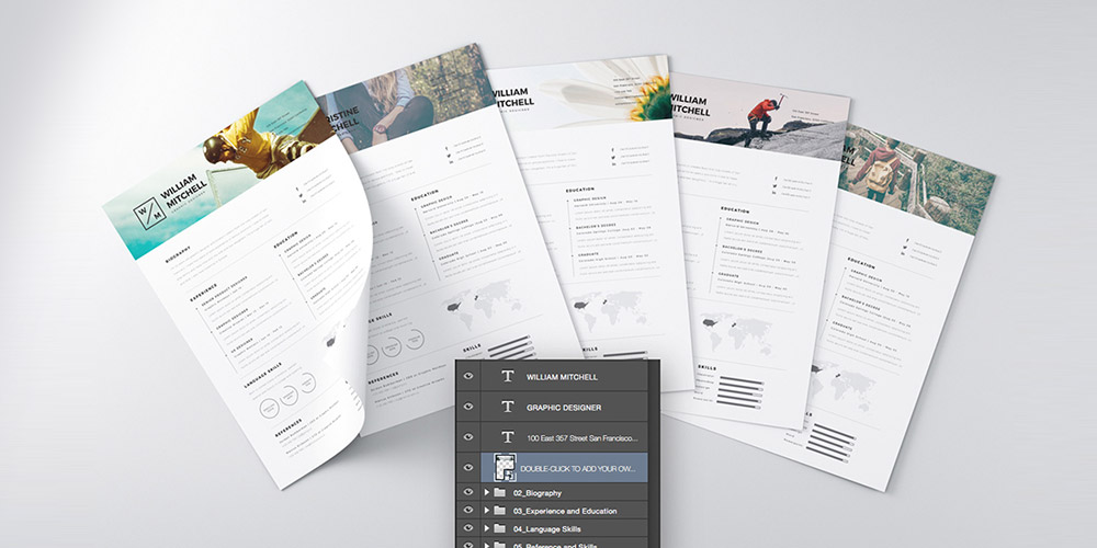 25+ Best Free Resume / CV Templates PSD