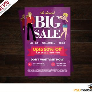 Colorful Shopping Sale Flyer Free PSD Template