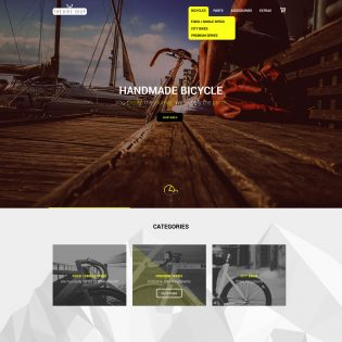 Bike Shop Free Website Template PSD