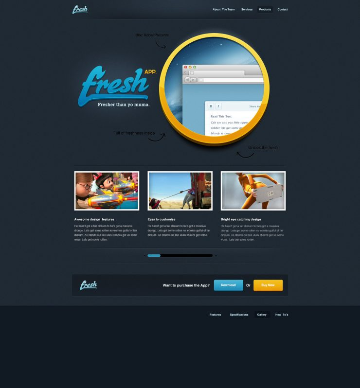 Black Fresh App Website Template PSD www, Website Template, Website Layout, Website, webpage, Web Template, Web Resources, web page, Web Layout, Web Interface, Web Elements, Web Design, web app page psd, Web, User Interface, unique, UI elements, UI, Template, Stylish, Showcase, Resources, Quality, psd web app, Psd Templates, Photoshop, Page, pack, original, new, Modern, Interface, HD, Graphics, freshapp, fresh app, Fresh, Freebies, Free Resources, free download, Free, fictional, Elements, download free psd, Download, detailed, Design, Dark, Creative, Clean, Black, Application, App, Adobe Photoshop,