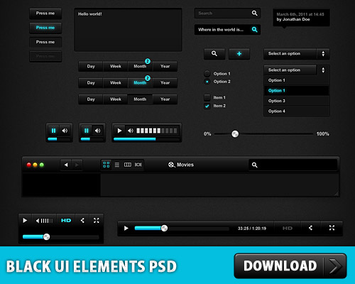 Black User Interface PSD File Web Resources Web Elements Video Player User Interface UI Slider Search Button Search box Search Psd Templates PSD Sources psd resources PSD images psd free download psd free PSD file psd download PSD Player Music Player Layered PSDs Icons Icon PSD GUI Graphical User Interface Free PSD Free Icons Free Icon FLV Player Elements Drop Down download psd download free psd Comment Box Check Boxes Buttons