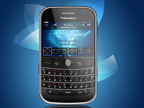 RIM Blackberry PSD Source PSD Phone Objects Mobile Layered PSDs Blackberry