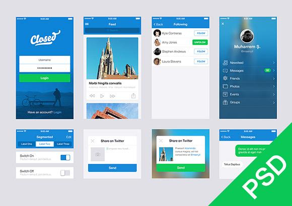 blue app ui elements kit psd web resources web elements web design elements