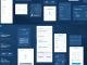 Blue Flat GUI Kit PSD Free Download
