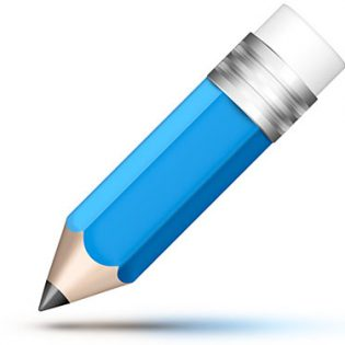 Blue Pencil Icon Free PSD