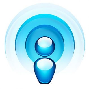 Blue Radio Wave Icon PSD