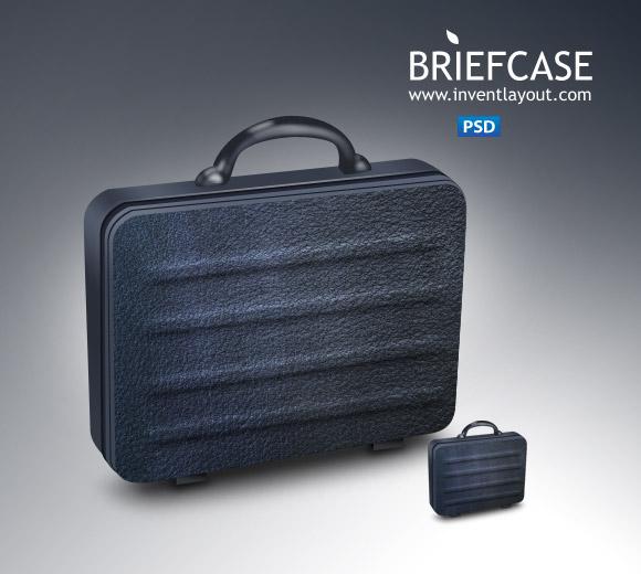 Briefcase Icon Free PSD