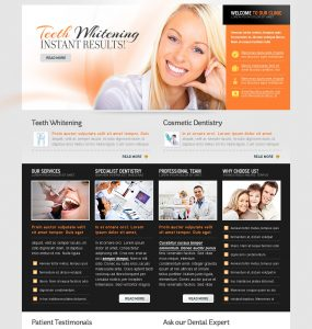 Bright Smile PSD Website Template