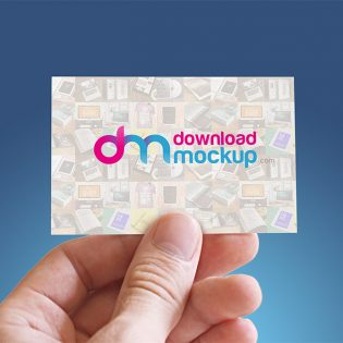 Business Card in Hand Mockup Free PSD