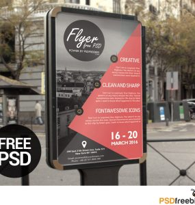 Business Event Flyer Poster Template Free PSD