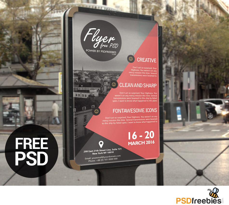 business event flyer poster template free psd download psd. Black Bedroom Furniture Sets. Home Design Ideas