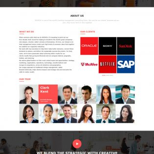 Business Website Template Free PSD