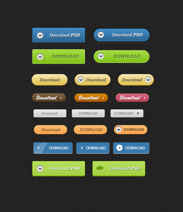 Download Buttons Free PSD File Web Resources, Web Elements, Resources, PSD Set, PSD Pack, Layered PSDs, Elements, Download, Buttons,