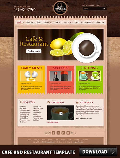 Cafe and Restaurant Template PSD www, Website, Web Template, Web Resources, Web Elements, Web Design, Web, Template, Restaurant, Psd Templates, PSD Sources, psd resources, PSD images, psd free download, psd free, PSD file, psd download, PSD, Layered PSDs, Free Templates, Free PSD, Drink, download psd, download free psd, Cafe,