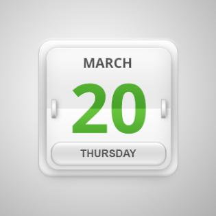 Calendar Date Flipper Icon PSD