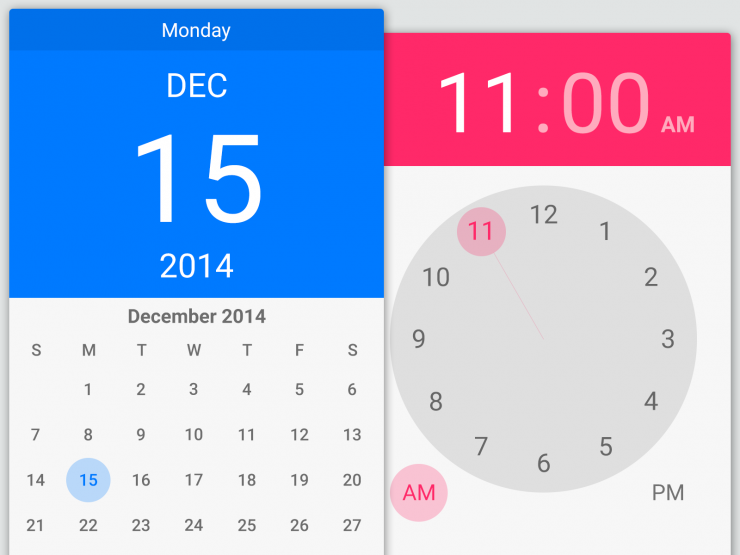 Calendar and Time Android Lollipop Widget PSD widget, Web, User Interface, ui set, ui kit, UI elements, UI, Time, Resources, Phone, lolipop, Interface, GUI Set, GUI kit, GUI, Graphical User Interface, Freebie, Free PSD, Flat, Elements, Design Resources, Design Elements, Clean, Calendar, Application, App, Android,