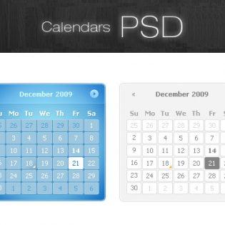 Calendars PSD Resource File