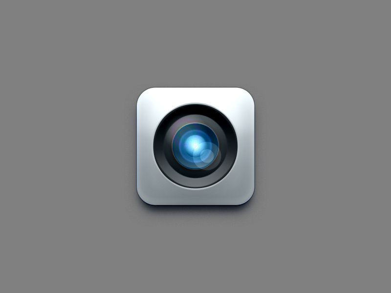 Camera Lens Icon Design PSD (Layer Style)