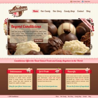 Candilicious Free PSD Website Template