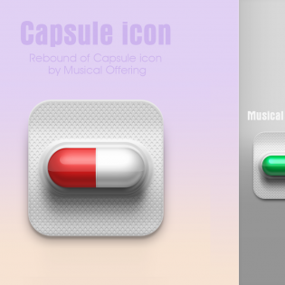 Capsule Icon Free PSD