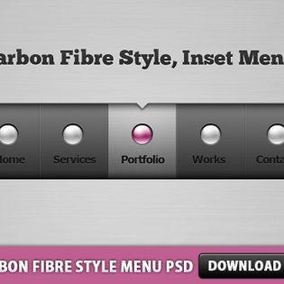 Carbon Fibre Style Menu Free PSD