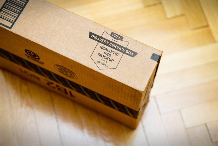 Carton Box Mockup Free PSD