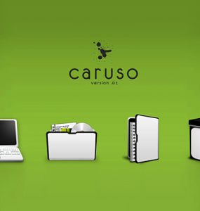 Caruso Icon PSDs PSD, Layered PSDs, Icons,