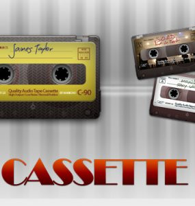 PSD Audio Cassette PSD, Objects, Layered PSDs, Audio, Add new tag,